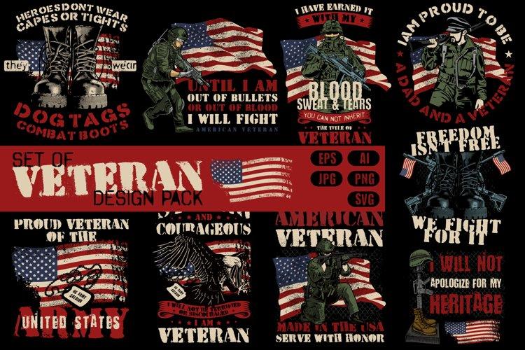 Set of Veteran design pack example image 1