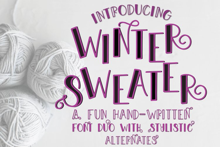 Web Font Winter Sweater - A Fun Font Duo with Stylistic Alte example image 1