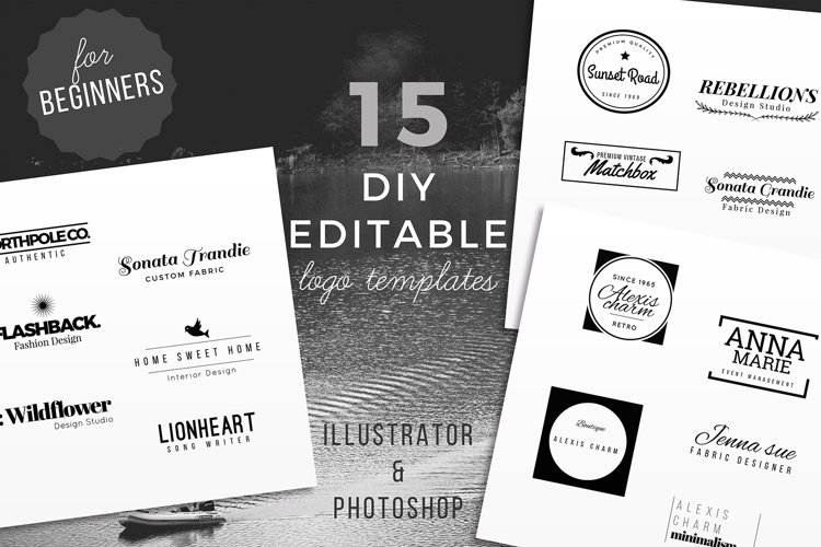 15 DIY Logo Template for Beginners example image 1