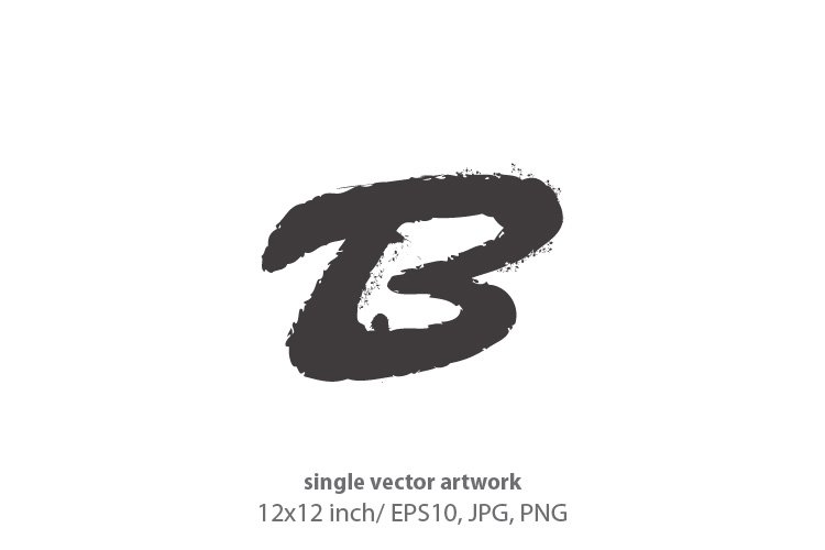 ink splash, letter b - single vector artwork example image 1