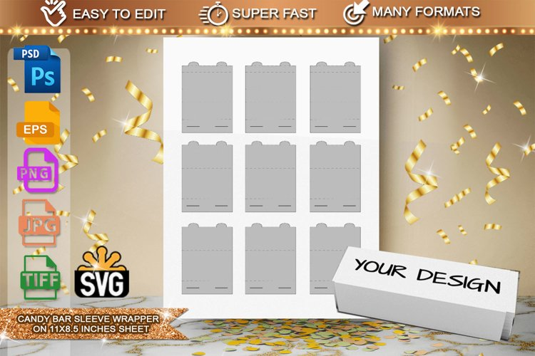 Candy Bar Sleeve Template example image 1