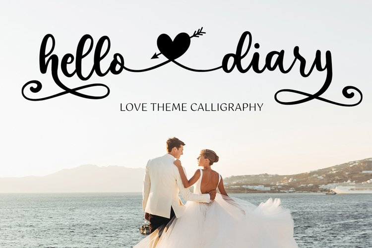 Hello Diary - Lovely Theme Calligraphy example image 1