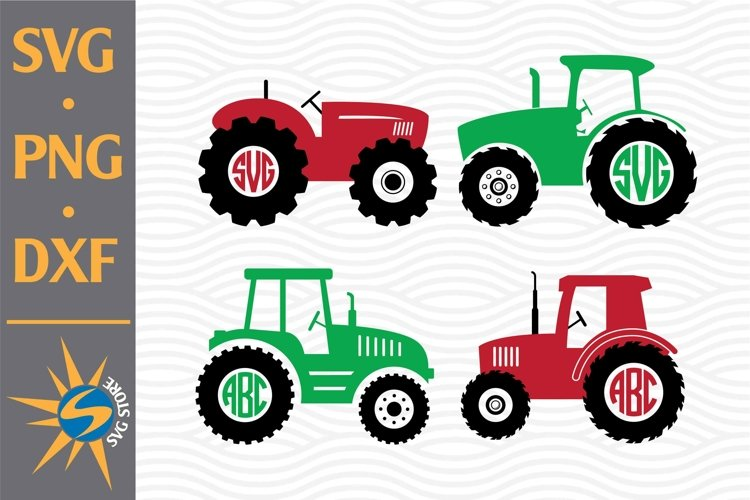 Tractor Monogram SVG, PNG, DXF Digital Files Include