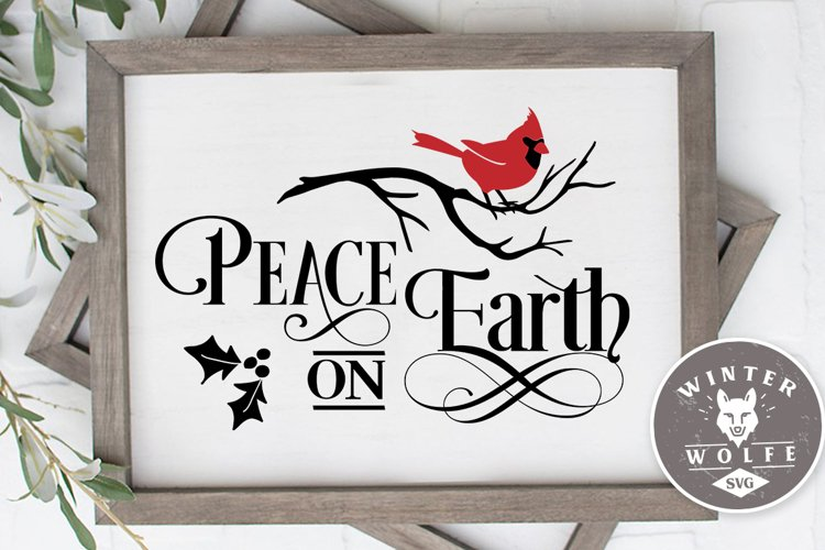 Peace on earth SVG EPS DXF PNG example image 1