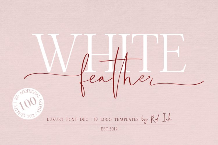 White Feather. Luxury Duo Font. example image 1
