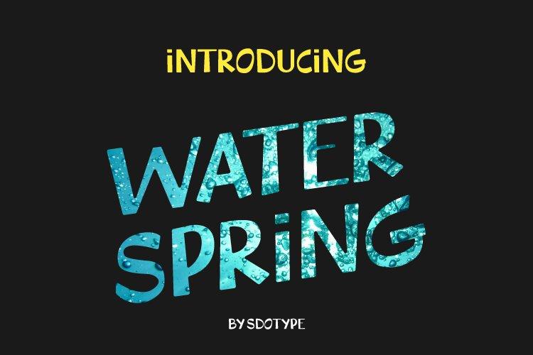 WaterSpring - Display Font