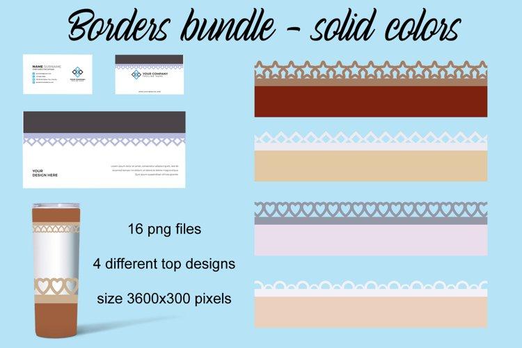 Solid Borders bundle