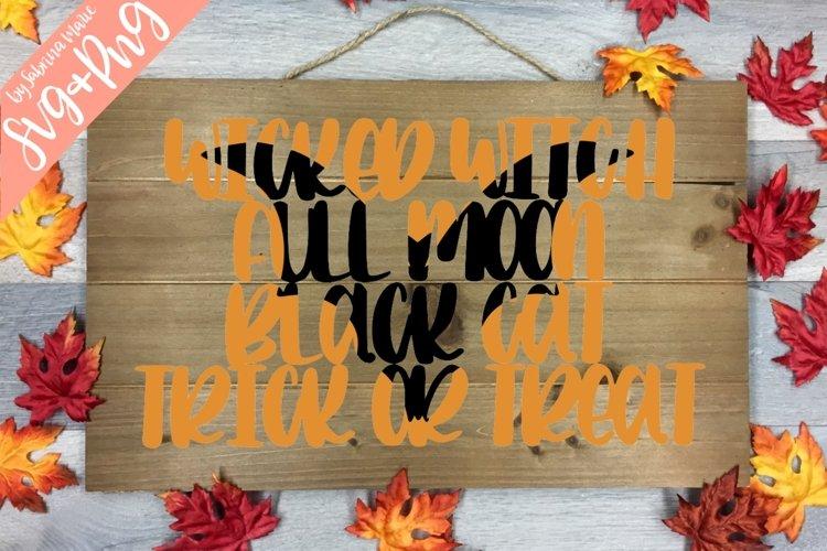 Handlettered Halloween Knockout Design with Bat - SVG/PNG