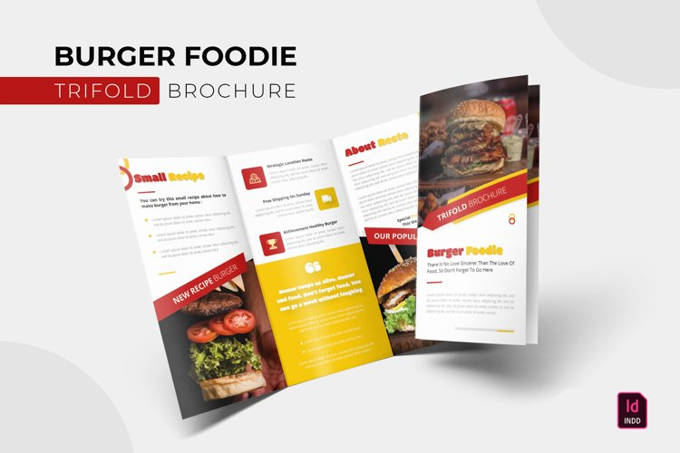 Burger Foodie   Trifold Brochure example image 1
