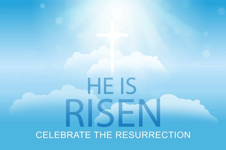 Happy Easter poster. Christ Resurrection example image 1