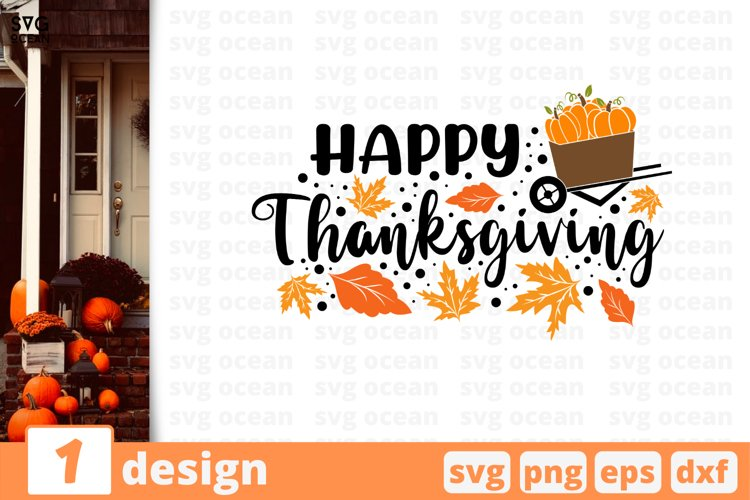 Happy Thanksgiving   Thanksgiving Day Svg Cut File example image 1