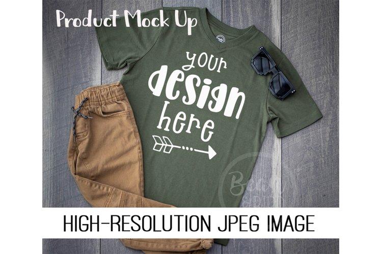 Kids Green Shirt Mock up Product Mock Up