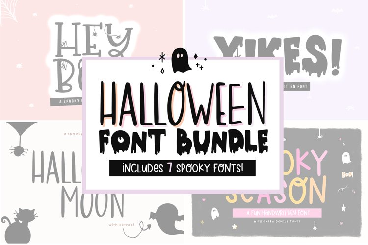 Font Bundle - Handwritten Fonts for Crafters - Halloween example image 1