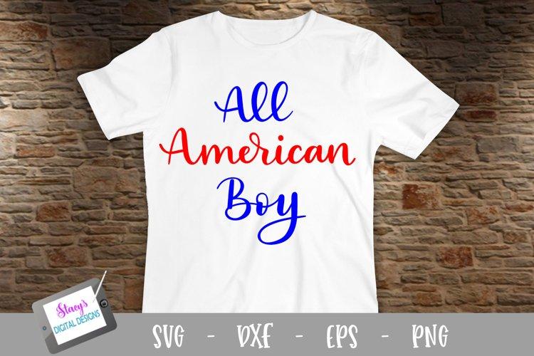 All American boy SVG - patriotic SVG file - 4th of july