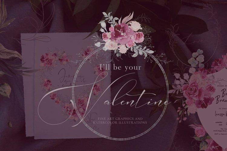 Ill be your Valentine - Pencil Fine Art and Watercolor