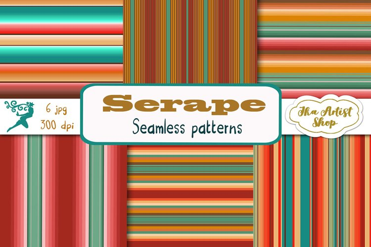 Blanket stripes seamless pattern. Serape mexican background. example image 1