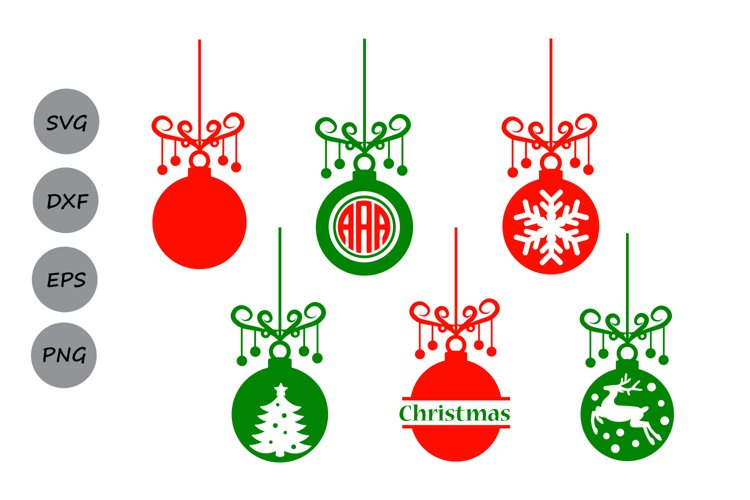 Christmas Ornament Svg Ornament Monogram Tree Ornament 85941 Cut Files Design Bundles