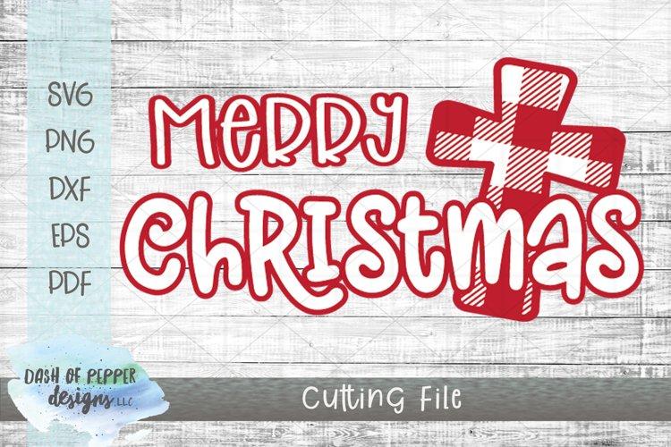 Merry Christmas Plaid Cross SVG - A Christmas SVG example image 1