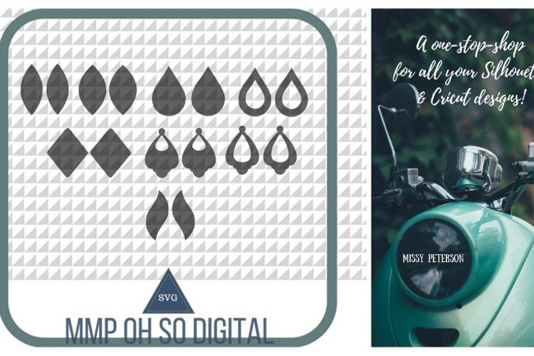 Teardrop Earring Bundle SVG, earrings SVG, earrings template, for silhouette, for cricut, vector SVG example image 1