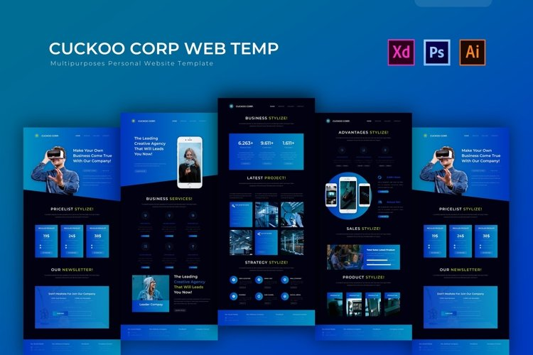Cuckoo Corp | Web Template example image 1