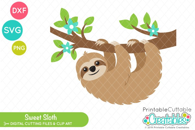 Sweet Sloth SVG example image 1