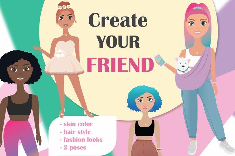Character builder. Character creator fashion girl!