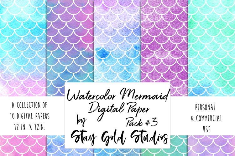 Watercolor Mermaid Patterns - Pack #3 example image 1