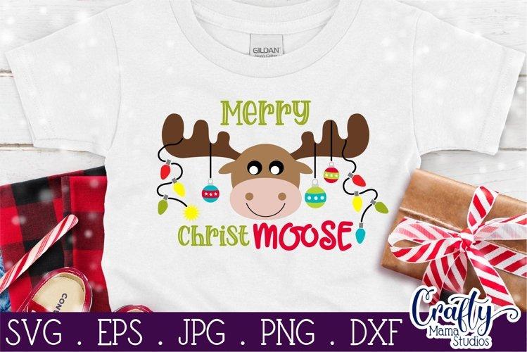Christmas Svg, Animal Svg, Moose Svg, Merry Christmoose example image 1