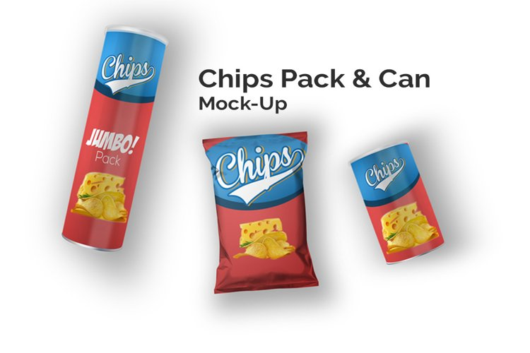 Chips Can & Bag Mock-Up Set example image 1