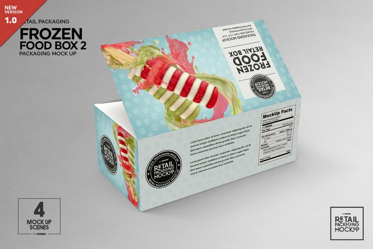 Big Frozen Food Box Packaging Mockup example image 1