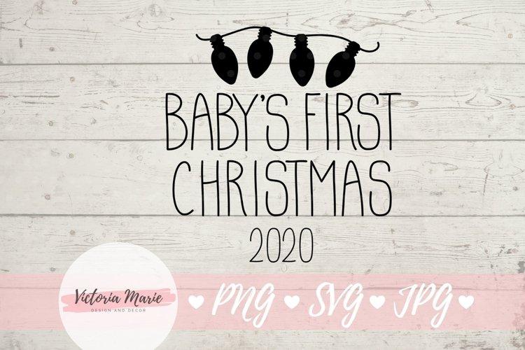 Babys First Christmas Ornament svg, 1st Christmas svg