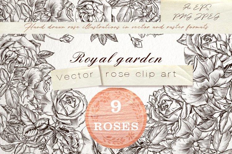 Royal garden, vector clipart set example image 1