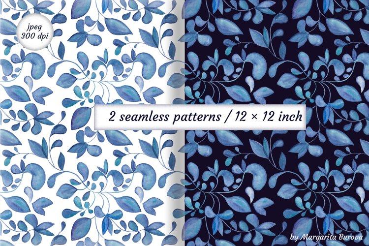 Watercolor Floral Digital paper. Seamless patterns