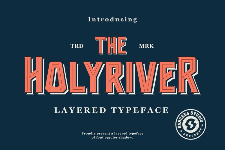 Holyriver Typeface example image 1