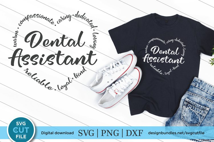 Dental assistant svg or dentist assistant svg for crafters example image 1