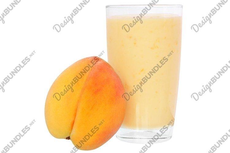 Stock Photo - Milk shake from peach yogurt example image 1