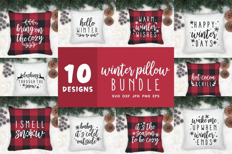 Winter Svg Bundle | Winter Pillow Cut File Bundle example image 1