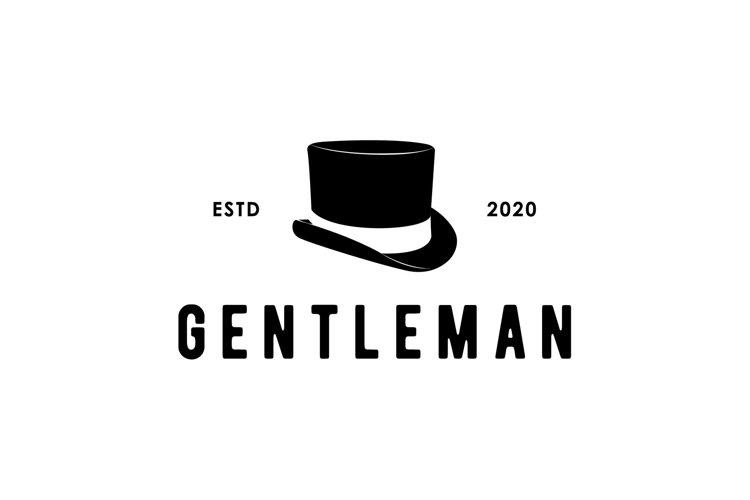 gentleman old Victorian hat beaver vintage logo design