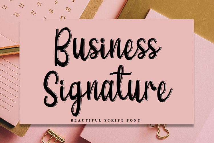 Business Signature - Modern Script Font example image 1