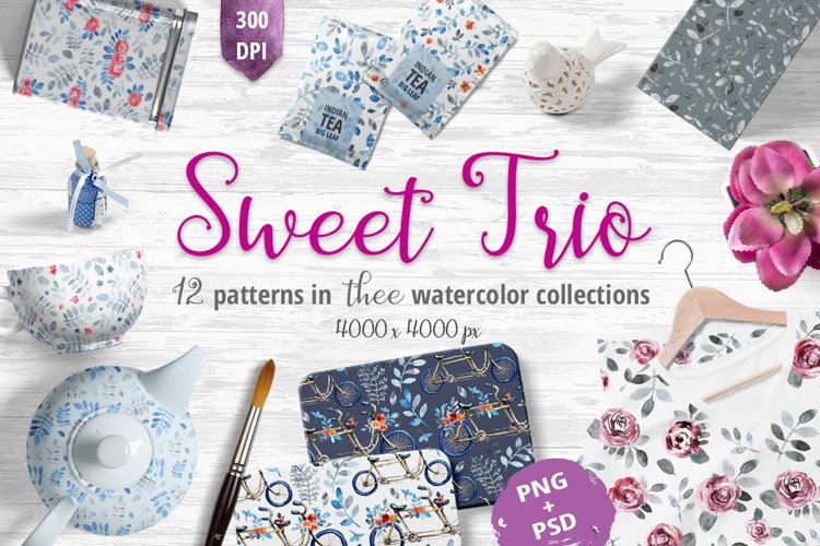 Sweet Trio - patterns example image 1