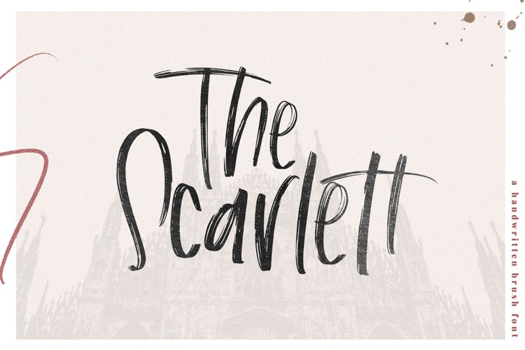 The Scarlett - A Handwritten Brush Font example image 1