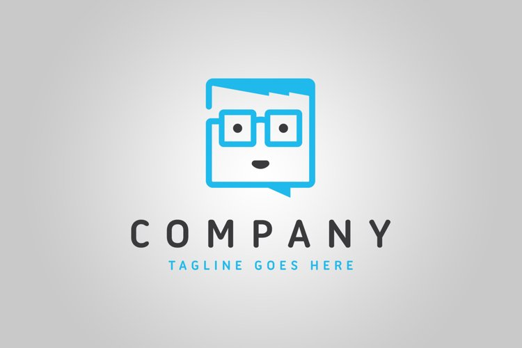Geek Chat Logo Template