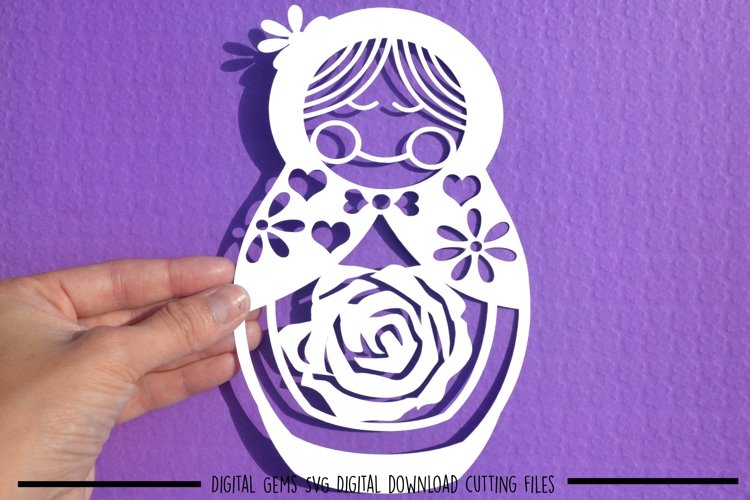 Russian Doll paper cut SVG / DXF / EPS files example image 1