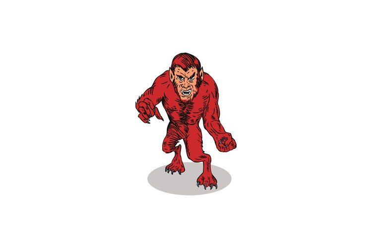 Red Werewolf Monster example image 1