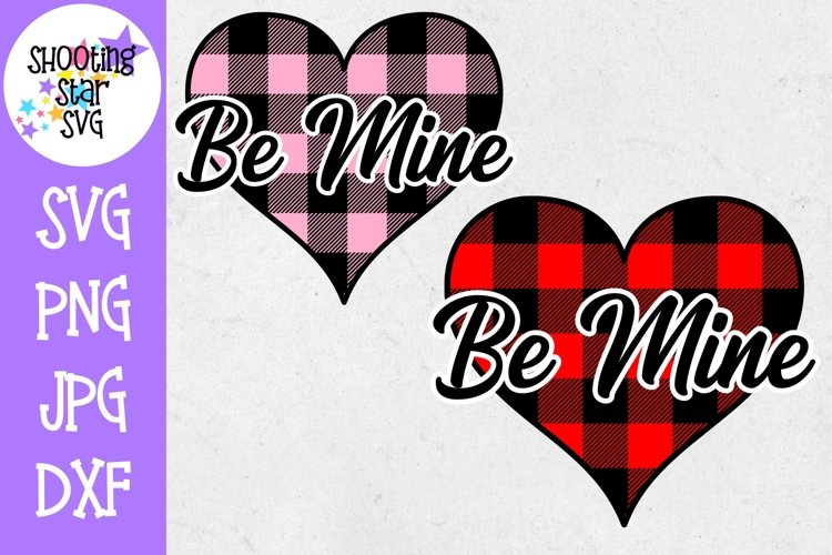 Buffalo Plaid Heart Be Mine - Valentines Day