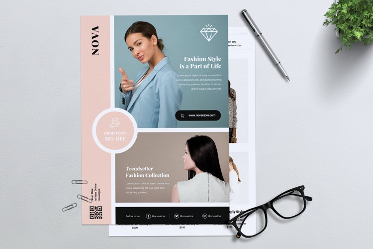 NOVA Minimal Fashion Flyer