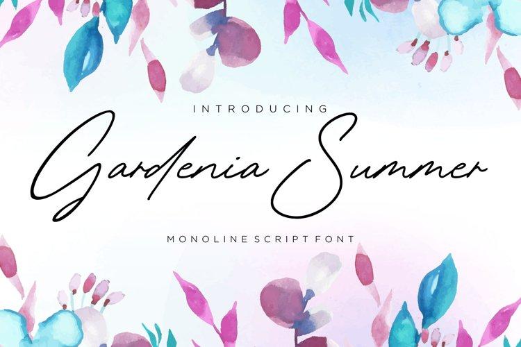 Gardenia Summer Monoline Script Font example image 1
