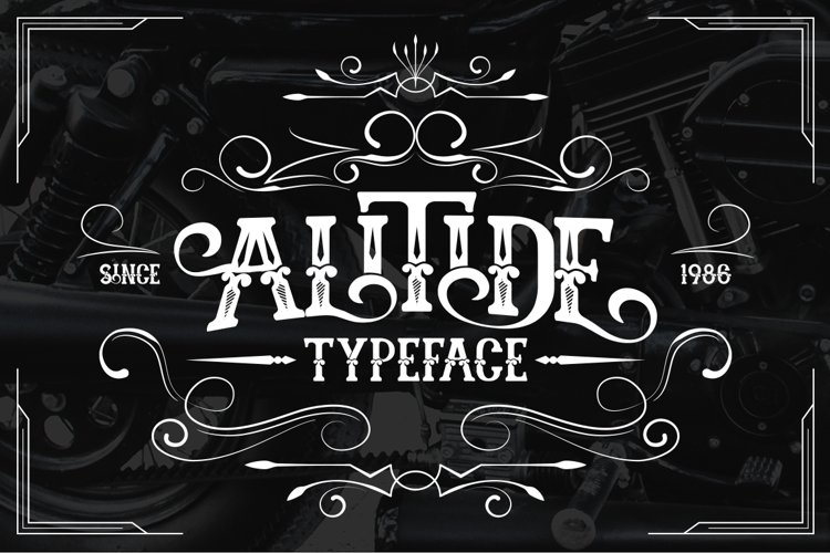 ALITIDE Typeface example image 1