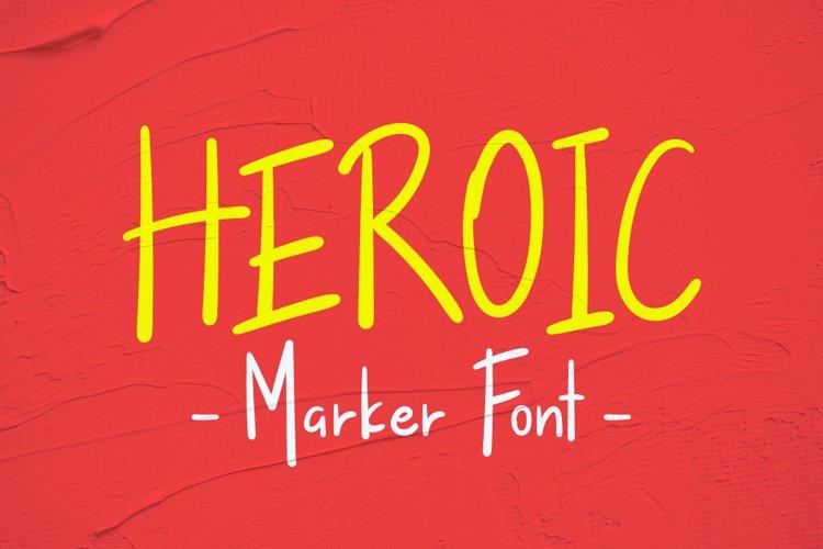 Heroic Handwritten Marker example image 1