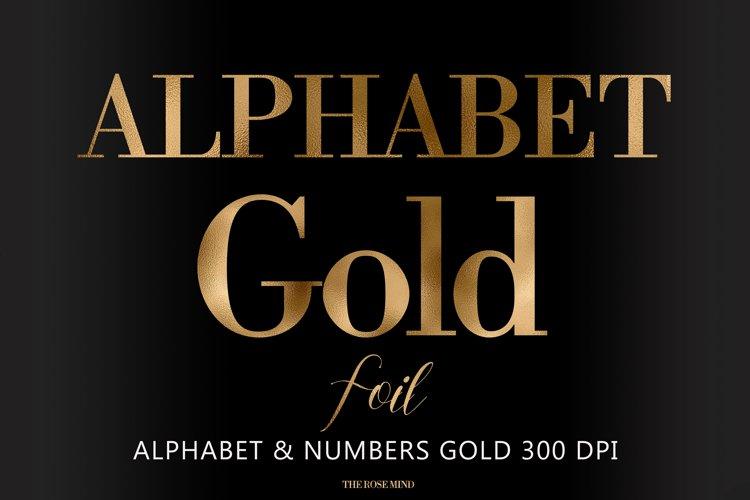 Alphabet, Gold letters, gold sublimation, gold foil example image 1